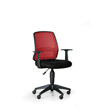 Kancelářská židle EKONOMY červená