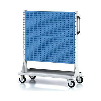 Mobilní stojan s panely na boxy