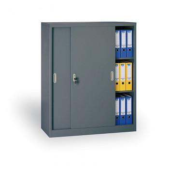 Kovová skříň s posuvnými dveřmi 1200x1200x450 mm, tmavě šedá