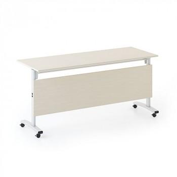 Konferenční stůl 1600x 400x 740, bříza, podnož šedá, SQUARE TRAINING