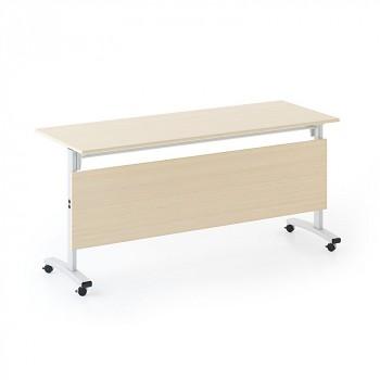 Konferenční stůl 1600x 400x 740, buk, podnož šedá, SQUARE TRAINING