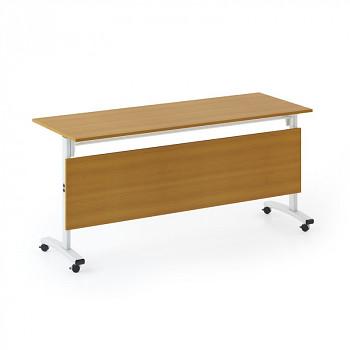 Konferenční stůl 1600x 400x 740, třešeň, podnož šedá, SQUARE TRAINING