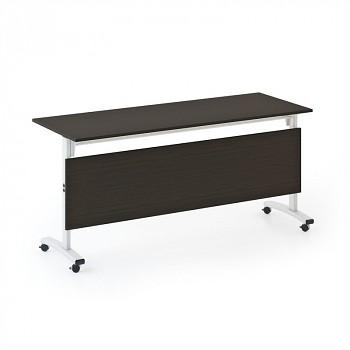 Konferenční stůl 1600x 400x 740, wenge, podnož šedá, SQUARE TRAINING