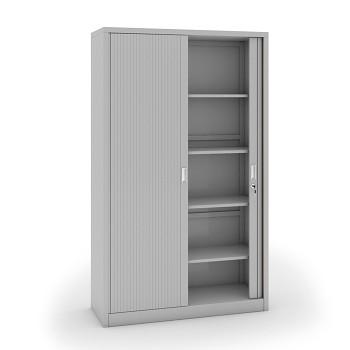 Kovová skříň s žaluziovými dveřmi 1990x1200x450 mm, světle šedá