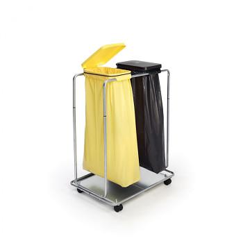 Mobilní stojan na 2x odpadkový pytel