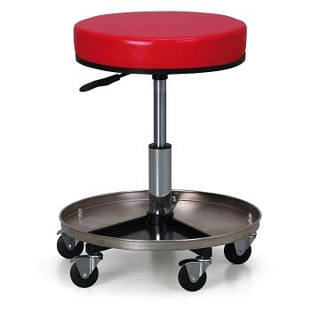 Dílenská stolička červená, výškově stavitelná