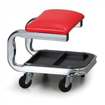 Dílenská stolička červená
