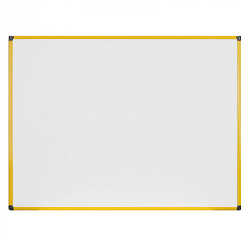 Magnetická tabule  900x 600 mm, žlutý rám