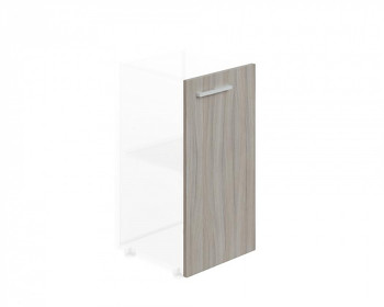 Dveře  768x 396x18, dub šedý, R, WELS