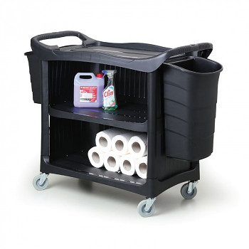 Plastový policový vozík úklidový