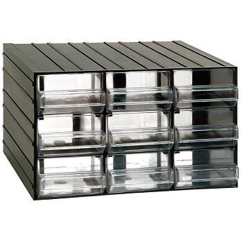 Modulová skříňka se zásuvkami, 382x290x230 mm, 9 zásuvek