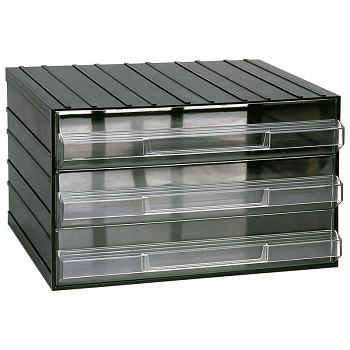 Modulová skříňka se zásuvkami, 382x290x230 mm, 3 zásuvky