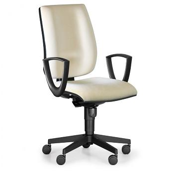 Kancelářská židle FIGO I, béžová s područkami