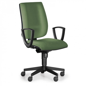 Kancelářská židle FIGO I, zelená s područkami