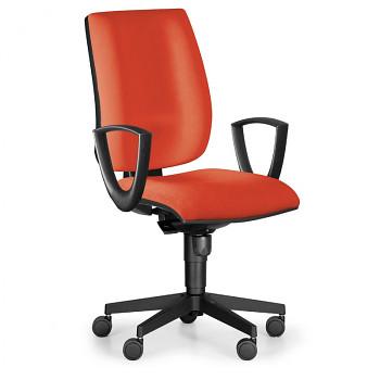 Kancelářská židle FIGO I, červená s područkami
