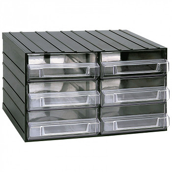 Modulová skříňka se zásuvkami, 382x290x230 mm, 6 zásuvek