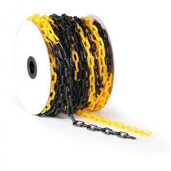 Plastový řetěz černožlutý 50 m