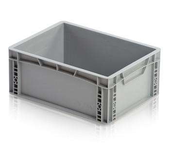 Plastová přepravka, uzavřené rukojeti, 400x300x170 mm