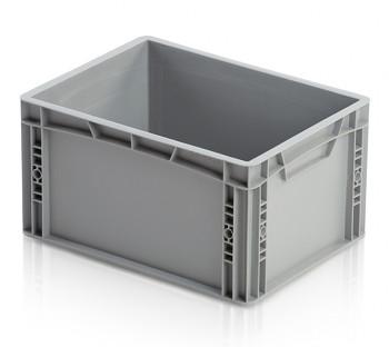 Plastová přepravka, uzavřené rukojeti, 400x300x220 mm