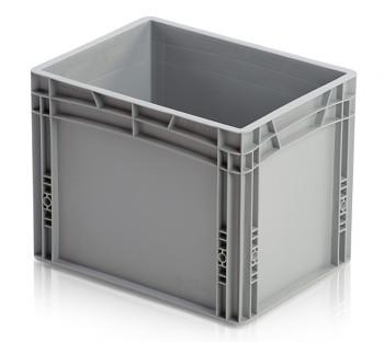 Plastová přepravka, uzavřené rukojeti, 400x300x320 mm