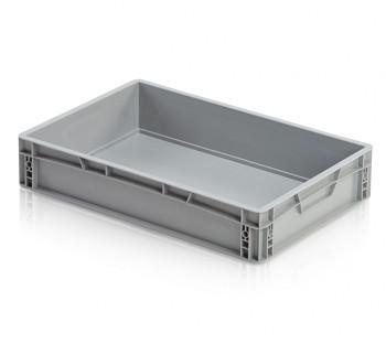 Plastová přepravka, uzavřené rukojeti, 600x400x120 mm