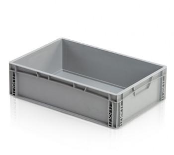 Plastová přepravka, uzavřené rukojeti, 600x400x170 mm