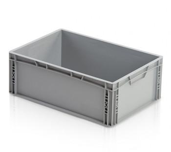 Plastová přepravka, uzavřené rukojeti, 600x400x220 mm