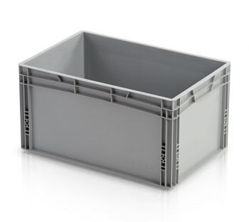 Plastová přepravka, uzavřené rukojeti, 600x400x320 mm
