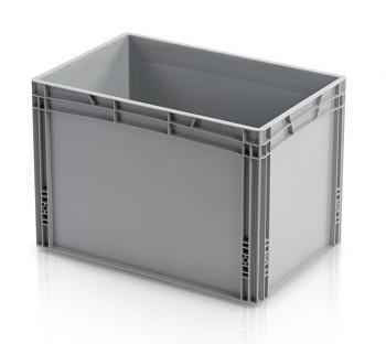 Plastová přepravka, uzavřené rukojeti, 600x400x420 mm