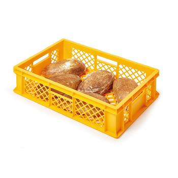 Plastová mřížkovaná přepravka 600x400x150 mm, žlutá