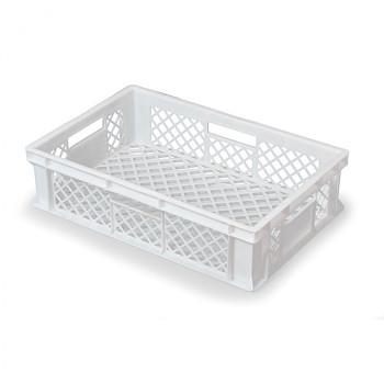 Plastová mřížkovaná přepravka 600x400x150 mm, bílá