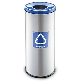 Koš na tříděný odpad 45 l šedý/modré víko
