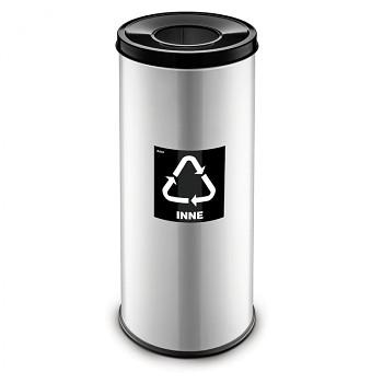 Koš na tříděný odpad 45 l šedý/černé víko