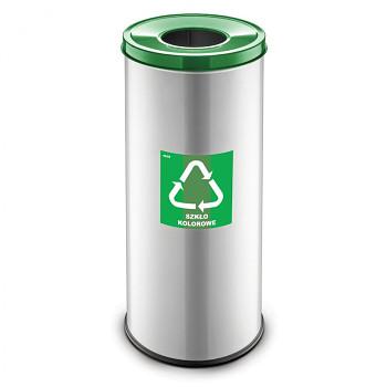 Koš na tříděný odpad 45 l šedý/zelené víko