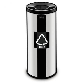 Koš na tříděný odpad 45 l nerez/černé víko