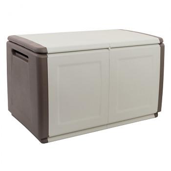 Plastový odkládací box s víkem 96 cm béžový