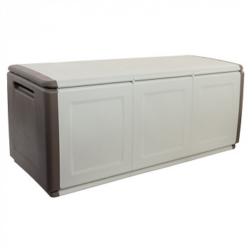 Plastový odkládací box s víkem 138 cm béžový