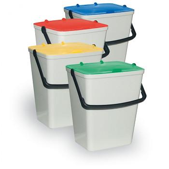 Sada plastových odpadkových košů 4 x 15
