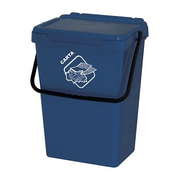 Plastový odpadkový koš, modrý, 35 l