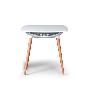 Jídelní stůl  800x 800x 740, bílá, COMPACT