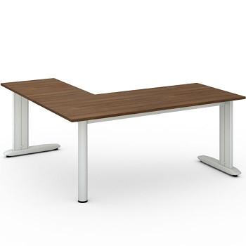 Stůl FLEXIBLE L, ořech, 1800x1800