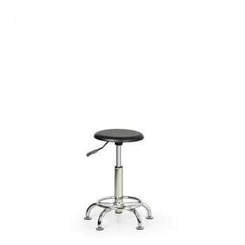 Taburet sedák PUR, univerzální kolečka, kovový kříž, opěrný kruh