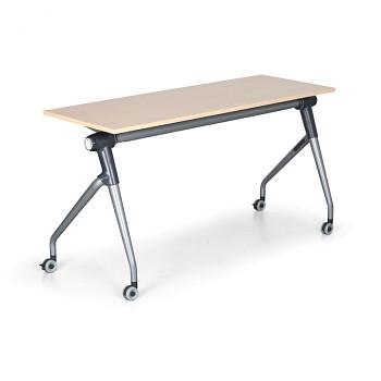 Konferenční stůl 1450x 450x 750, bříza, podnož šedá, TRAINING PLUS
