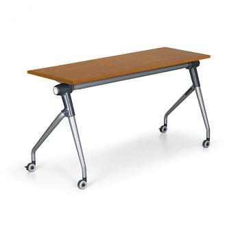 Konferenční stůl 1450x 450x 750, třešeň, podnož šedá, TRAINING PLUS