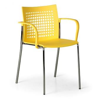 Jídelní židle COFFEE BREAK žlutá