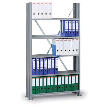 Základní regál zásuvný VARIANT, 90 kg/police x7, 2550x1240x300, šedý