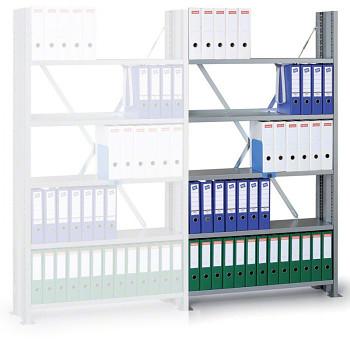Přídavný regál zásuvný VARIANT, 90 kg/police x7, 2550x1240x300, šedý