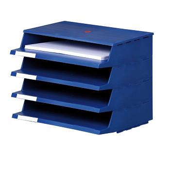 Plastový zásobník na dokumenty modrý
