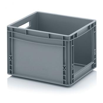 Plastová přepravky s vkladovým otvorem 400x300x270 mm