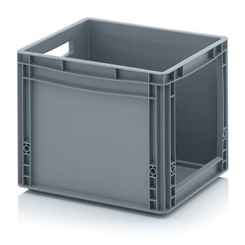 Plastová přepravky s vkladovým otvorem 400x300x320 mm